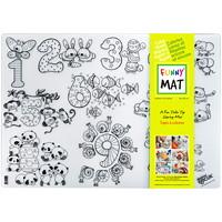 Tapis de coloriage de table réutilisable Funny Mat, motifs numériques, 189/10po x 131/5po