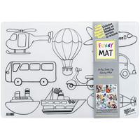 Tapis de coloriage de table réutilisable Funny Mat, motifs de véhicules, 189/10po x 131/5po
