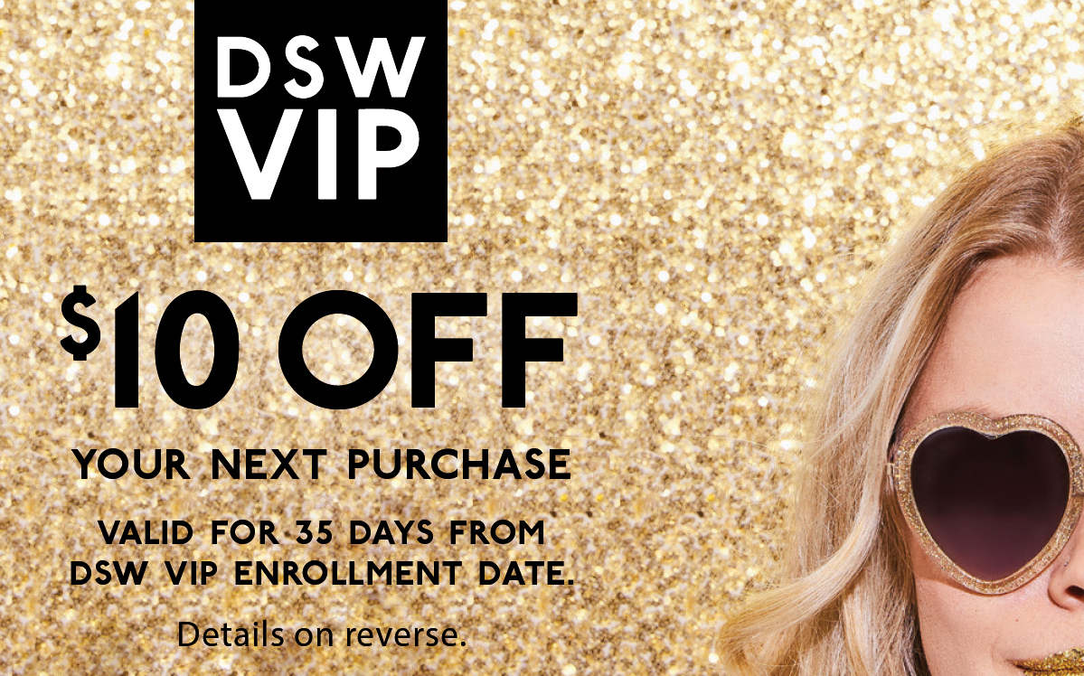 DSW VIP Welcome Bounce Back Cards, $10,  1 pack = 100