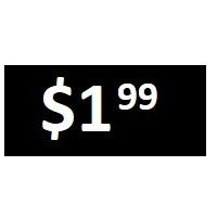 $1.99 - Black PRICE POINT STICKERS - SHEET