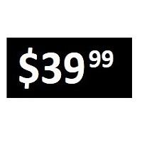 $39.99 -  Black PRICE POINT STICKERS - SHEET