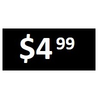 $4.99 - Black PRICE POINT STICKERS - SHEET