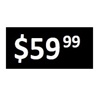 $59.99 -  Black PRICE POINT STICKERS - SHEET