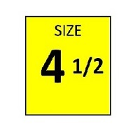 SIZE 4.5 YELLOW STICKER - ROLL,  250 stickers per roll