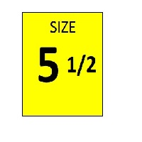 SIZE 5.5 YELLOW STICKER - ROLL,  250 stickers per roll