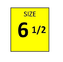 SIZE 6.5 YELLOW STICKER - ROLL,  250 stickers per roll
