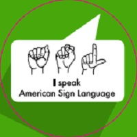 LANGUAGE BUTTONS- AMERICAN SIGN LANGUAGE