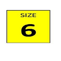 SIZE 6 YELLOW STICKER - ROLL,  250 stickers per roll - FR