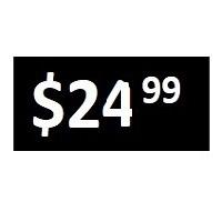 $24.99 -  Black PRICE POINT STICKERS - SHEET