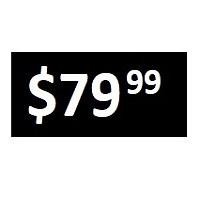 $79.99 -  Black PRICE POINT STICKERS - SHEET - FR