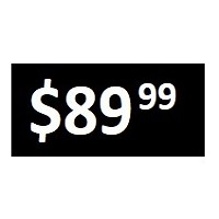 $89.99 -  Black PRICE POINT STICKERS - SHEET