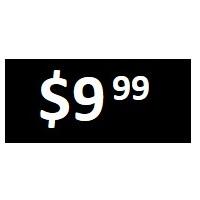 $9.99 -  Black PRICE POINT STICKERS - SHEET - FR