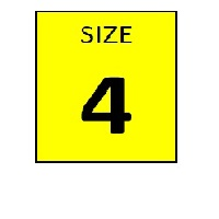 SIZE 4 YELLOW STICKER - ROLL,  250 stickers per roll - FR