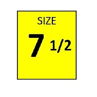 SIZE 7.5 YELLOW STICKER - ROLL,  250 stickers per roll - FR