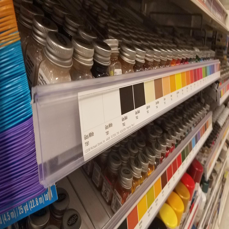 Craft Paint Shelf Flex Hinge Label Holder  - FR