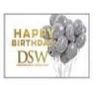 DSW Gift Card - DSW Happy Birthday B/W, 1 pk=20