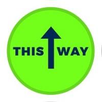 SC -This Way Arrow Floor Decal Circle 12