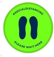 SC -Wait Here-SD_Footprint, Floor Decal Circle 12