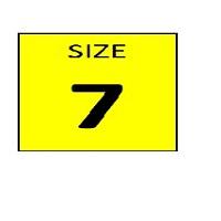 SIZE 7 YELLOW STICKER - ROLL,  250 stickers per roll - FR
