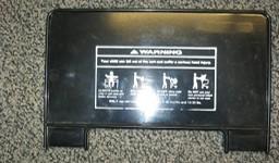 Shopping Cart Seat NO Middle Snap - Black - (Min order 12) - FR