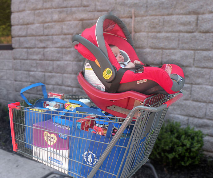 Infant CarrierT SAFE DOCK for Shoppping Cart - FR