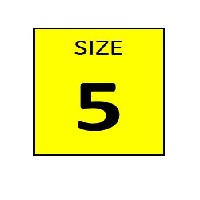 SIZE 5 YELLOW STICKER - ROLL,  250 stickers per roll - FR