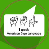 LANGUAGE BUTTONS- ASL (AMERICAN SIGN LANGUAGE)