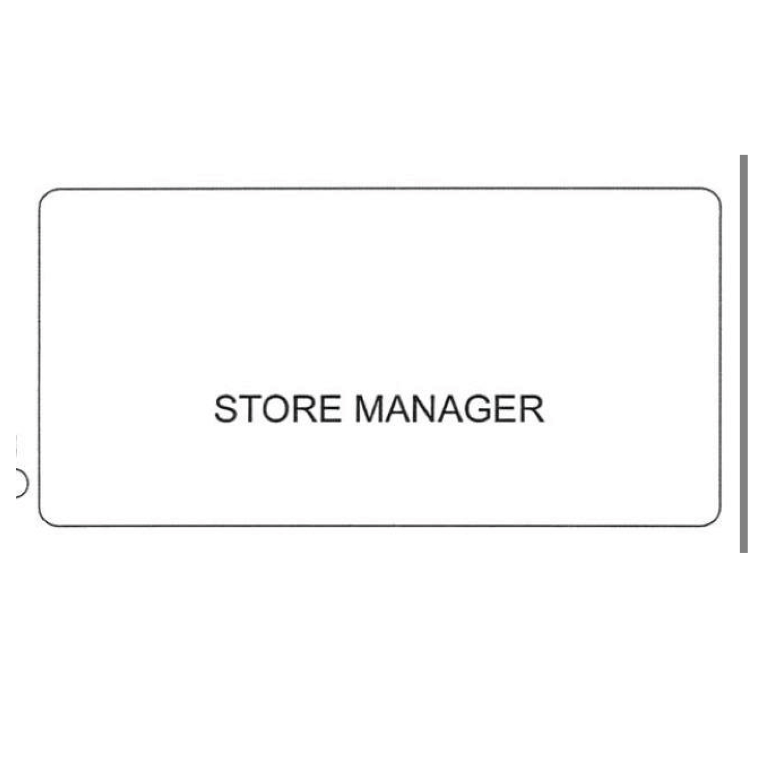"""SCSW NAME BADGE """"MANAGER"""""""