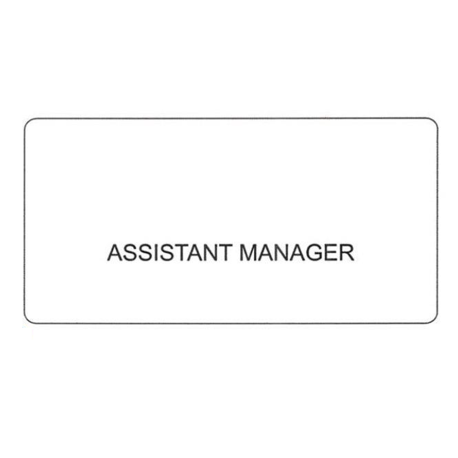"""SCSW NAME BADGE """"ASSISTANT MANAGER"""""""