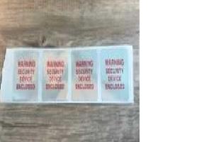 Étiquette avertissement argent