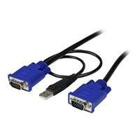 StarTech.com Câble pour Switch KVM VGA avec USB 2 en 1 - 1.80m - câble clavier/vidéo/souris/USB - 1.83 m
