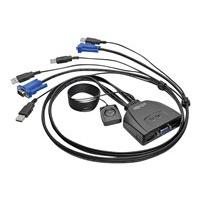 Tripp Lite 2-Port USB/VGA Cable KVM Switch with Cables and USB Peripheral Sharing - KVM / USB switch - 2 ports