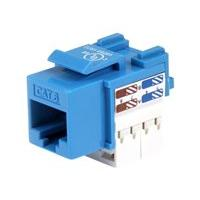 StarTech.com Cat6 Cable - Cat6 Keystone Jack - 110 Type Universal - Blue - Ethernet Network Cable (C6KEY110BL) - prise modulaire