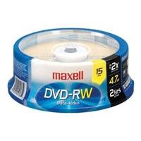 Maxell - DVD-RW x 15 - 4.7 Go - support de stockage