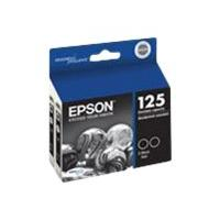 Epson 125 - 2-pack - black - original - ink cartridge