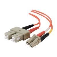 C2G 10m LC-SC 50/125 OM2 Duplex Multimode PVC Fiber Optic Cable (USA-Made) - Orange - patch cable - 10 m - orange