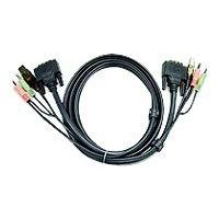 ATEN 2L-7D02U - video / USB / audio cable - 1.8 m dio Plugs  DVI (M) - USB B Typ e  Audio Plugs  DVI