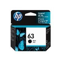 HP 63 - dye-based black - original - ink cartridge