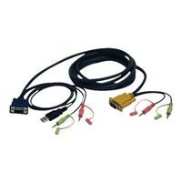 Tripp Lite 10ft VGA / USB / Audio Cable Kit for B006-VU4-K-R KVM Switch 10' - video / USB / audio cable - 3 m