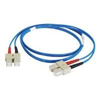 C2G 5m SC-SC 62.5/125 OM1 Duplex Multimode PVC Fiber Optic Cable - Blue - patch cable - 5 m - blue