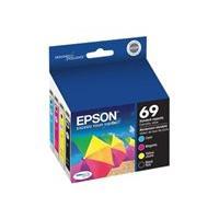 Epson 69 - pack de 4 - noir, jaune, cyan, magenta - originale - cartouche d'encre