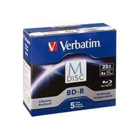 Verbatim M-Disc - BD-R x 5 - 25 Go - support de stockage