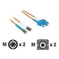 C2G 20m SC-ST 50/125 OM2 Duplex Multimode Fiber Optic Cable - Low Smoke Zero Halogen LSZH - Orange - patch cable - 20 m - orange