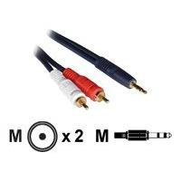 C2G Velocity One 3.5mm Stereo Male to Two RCA Stereo Male Y-Cable - câble audio - 7.6 m