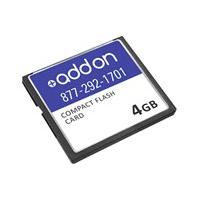 AddOn 4GB Cisco MEM-CF-256U4GB Compatible Compact Flash - flash memory card - 4 GB - CompactFlash