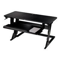 3M Precision - standing desk converter - rectangular - black