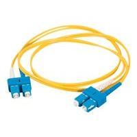 C2G 6m SC-SC 9/125 Duplex Single Mode OS2 Fiber Cable - Yellow - 20ft - patch cable - 6 m - yellow