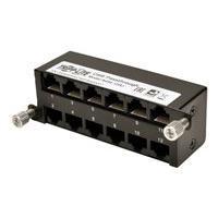 Tripp Lite High Density Cat5e / Cat6 Pass-Through Cassette 12 RJ45 - fiber optic cassette