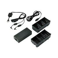Zebra 3-Slot Battery Charger Connected via Y Cable - chargeur de batteries (Etats-Unis)