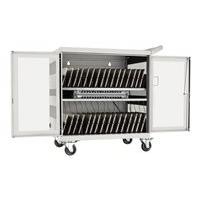 Tripp Lite 32-Port USB Charging Cart Storage Station iPad Android Tablet White - cart